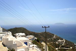 Panorama från Chora på Anafi.