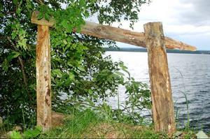 MalinMatilda Allberg föll för utsikten över Locknesjön och ramade in den.