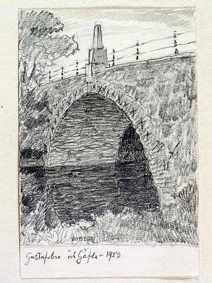 Då. Gustavsbron i Gävle på Bobergs tid.