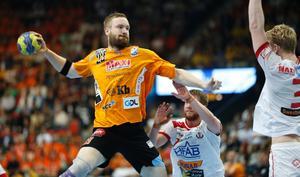 Lars Möller Madsen i IFK Kristianstads tröja säsongen som gick.