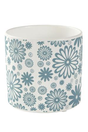 Turkosblått. Krukan Flowerdream är 13 centimeter hög och 12,5 i diameter. Säljs på Ellos.se. Pris: 69 kronor. Foto: Ellos