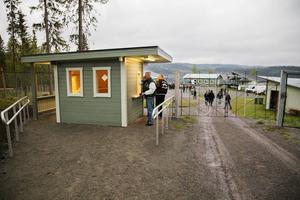Det är inte bara premiär för Svea Park utan även för den nybyggda betalkiosken.