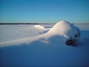 Russfjärden: Isvallar utanför Tännviken mellan Ulriksfors och Hallviken, januari 2009, -25° Foto: Bo-Göran Hedberg