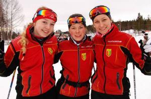 Emma Backén, Hanna Carlström och Emma Thalin körde hem ett lagbrons till Svegs IK i JSM för 17-18 åringar.