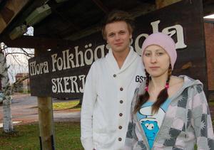 Rasmus Böhl och Anna Rosén har valt att delta i en SMF-Kurs, Studie Motiverad Folkhögskolekurs, på Mora Folkhögskola.