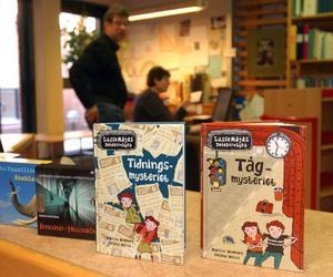 Populära böcker. Martin Widmarks mysterieböcker innehar den fem översta platserna över de mest utlånade böckerna vid biblioteken i Vansbro kommun under 2006.