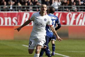 Zlatan Ibrahimovic tog sin fjärde ligatitel med PSG, och sin trettonde totalt, i helgen.