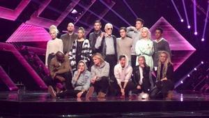 Så här såg artisterna ut på torsdagens repetitioner som skedde inför media. Nu har de gjort första generpet inför publik och internationell jury – i komplett kostym och sminkning.