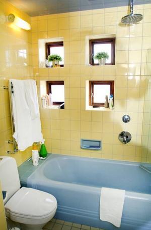 Badrummet är återställt som det såg ut från början.