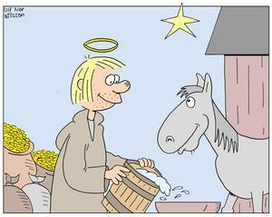 PÅ ALLAS LÄPPAR I DAG. Det folkliga helgonet Sankt Staffan tjänade grova pengar på att sälja syndernas förlåtelse till sina anhängare. Men var det verkligen han som vatt-nade fem fålar under en stjärna.
