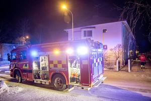 Brand i flerfamiljshus på Eriksbergsvägen i Östersund.