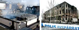 CH i Gävle brann i maj 2005 (bilden till vänster). Bilden till höger är från veckans brand på stadshotellet i Eskilstuna.