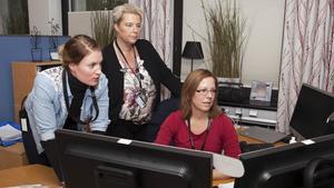 Elin Lagerholm, Carina Berghök och Ewa Thored arbetar mot it-relaterad sexualbrottslighet mot barn.