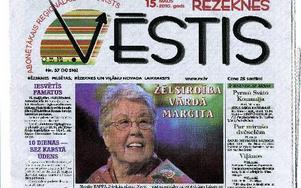 En artikel om Margit Rapp i en lettisk tidning.