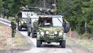 Norska hemvärnssoldater deltar i helgens kringsförbandsövning.
