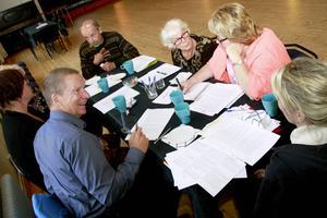 Under tisdagen jobbade grupperna med frågor kring hur kommunen, näringslivet och civilsamhället ska kunna samordna sina resurser.