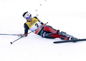 Hedi Weng efter målgång i Italien i januari. Norskan leder världscupen – men vill helst hoppa av.