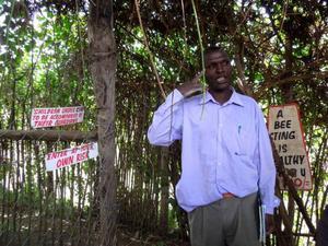 De flesta bönder i Kenya får ut en skörd per år på sina marker. Josphat Macharia får ut två. Han odlar ekologiskt och håller kurser i hållbart jordbruk på sin gård. Foto: Kjell Ahnfelt