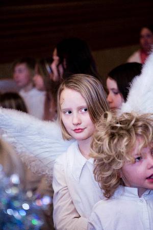 Moa Boije och Elias Persson är två av eleverna från Fjällsta skola som deltog i musikalen Gryningsljus.