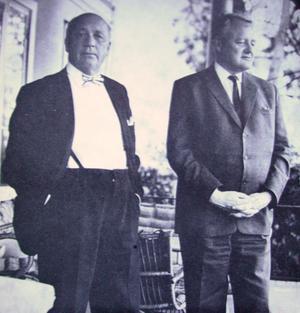 Två svenska intellektuella. Publicisten Herbert Tingsten och filosofen Ingemar Hedenius.