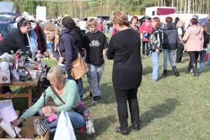 Man träffar mycket folk, vänner och bekanta under en marknadsdag i Homna. Det var också ett stort utbud av saker som såldes under marknaden.