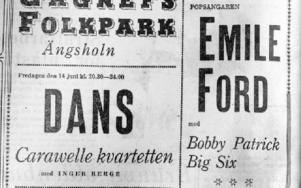 Tidningsannons från den 14 juni 1963. Foto: Mikael Forslund
