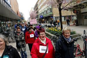 Mari Östergren, Inger Johansson och Ylva Dahlin var några av de som deltog när Gävles första Ångestloppet arrangerades på lördagen.