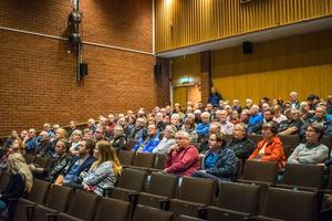 Många ortsbor ville veta mer om Google-etableringen och hur den kommer att påverka Horndal i framtiden.