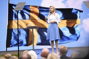 Kristdemokraternas partiledare Ebba Busch Thor då hon talade i Almedalen.