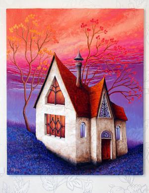 utställningens mest färgintensiva hus.