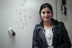 Rona Hajo är mest nervös inför att stöta på bråk på provet.