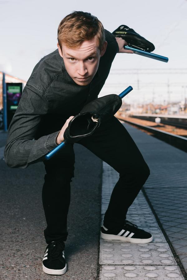Gustav Åkesson, 22, från Västerås gör en elitsatsning i speed skating och lever med diabetes typ 1.