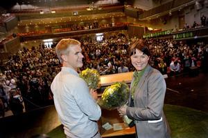 Nytt radarpar. Miljöpartiets nya språkrör heter Gustav Fridolin och Åsa Romson.