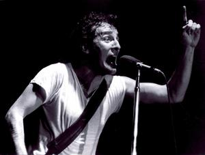 Bruce Springsteen under en konsert i Stockholm, 7 maj, 1981.