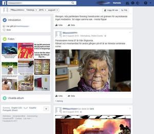 Mannen som delade den påhittade historien med den starka bilden på Karin Forslund har gjort det tidigare. För drygt ett år sedan spred han samma bild - men då med en annan påhittad historia. Foto: Skärmdump.