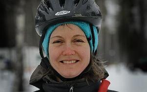 """Sara Jones, Falun .""""Vi älskar det stora urvalet plogade isbanor på sjön."""""""