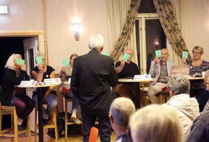 Samliga politiker lovade att de skulle jobba för en lösning. Fjällhälsan ska finnas kvar menade panelen. Dt får ses som ett vallöfte efter mötet i Hedeviken.