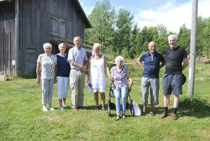 Från vänster: Gunnel Nyström, Irma Edman, Nils Elfwing, Sonja Kämpenberg, Sonja Sandkvist, Sven Erik Sandberg, Allan Edblom.   Foto: Michael Kämpenberg