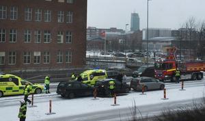 Olyckan vid Björnövägen visade sig enligt polisen vara en dubbel kökrock.