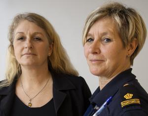 Närpolisens ungdomsutredare Mia Logård och Carola Wiklund