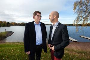 Jan Bohman och Jonny Gahnshag hoppas på ett allt intimare samarbete för att stärka Falun Borlänge-regionen. Den pågående översiktsplaneringen är bara ett exempel i raden av gemensamma projekt.