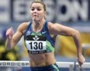 Sanna Kallur var der stora affischnamnet i GE Galan och vann 60 meter häck på 7,94. Därmed är Sanna fortsatt obesegrad under 2007 och storfavorit till att försvara sitt EM-guld i Birmingham om drygt en vecka. Foto: Scanpix