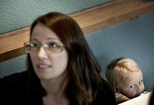 Söndagsskola. Lisa Svensson hade med sig sina barn, här sonen Fride, vilket betydde att hon tillbringade en del tid i söndagsskolan.