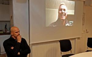 Nya tränaren Bosse Wålemark fanns inte i Borlänge i går när Brage presenterade sina nya tränare, däremot var assisterande tränaren Gerhard Andersson med. Wålemark fanns uppkopplad via Skype. Foto: Johnny Fredborg