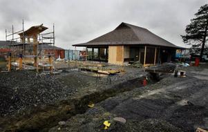 Arkitekten Lennart Köpsén har designat det nya Mikadohuset. Tsukasa Takeuchi har själv designat portalen på byggnadens södra sida.Foto: Henrik Flygare