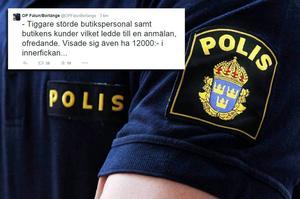 – Som myndighet ska vi inte delta i någon offentlig debatt på sociala medier, säger Dalapolisens informationschef Stefan Dangardt om ordningspolisernas tweet.