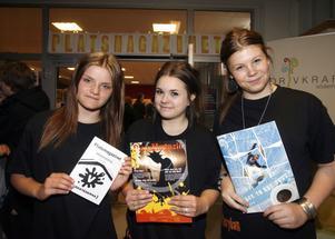 2. Hanna Eriksson, Åse Björk och Olivia Lilja har tillsammans planerat hela mässan. Praktiserat har de gjort på Näringslivsenheten som projektledare.