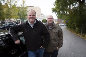 Jens Nordin och Håkan Pettersson har precis startat en ny reklam- och marknadsföringsbyrå. Deras