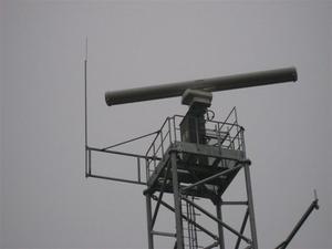 En av masterna, 18 meter hög, finns i Nordingrå och en, 60 meter hög, finns på Hemsön, norr om Härnösand.