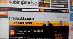 I dag är det premiär för Fredaxbloggen.